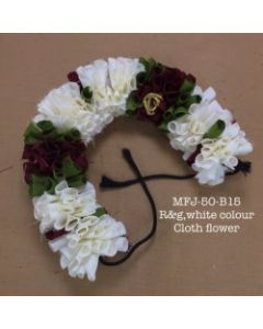 White green red  color With Black Thread Artificial Cloth Flowers For Dance Set By Online
