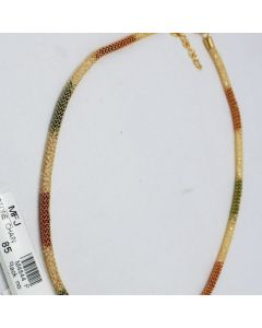 White Red Green Color Crystal Stones Golden Polish Chain Online12919