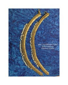 Without Stones With Pearls Designer Antic Finish Ankletleg Chain Set Buy Online12919