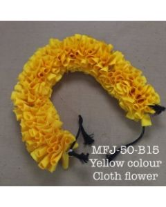 Yellow color With Black Thread Artificial Cloth Flowers For Dance Set By Online